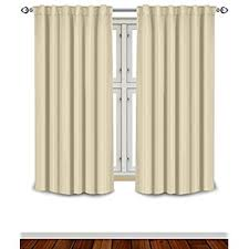 Open Those Curtains Wide Amazon Com Thermal Insulated Blackout Curtains Beige 2 Panels