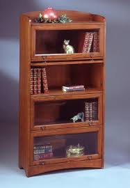 Cherry Wood Bookcase With Doors Barrister Bookcase Cherry Wood Thesecretconsul Com