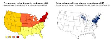 Lyme Map Can Lyme Disease Trigger Celiac Disease On Medicine