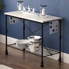 latitude run kitchen island with metal open shelf u0026 reviews wayfair