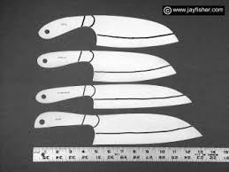 Handmade Kitchen Knives For Sale Custom Knife Patterns Drawings Layouts Styles Profiles