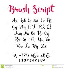 hand drawn alphabet script brush font stock vector image 71870826