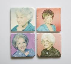 golden girls coasters by versatile designs at maker house co