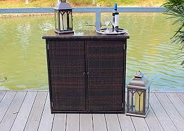 amazon com outdoor wicker and rust proof aluminum serving bar