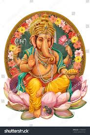 Religious Invitation Cards God Ganesha Invitation Cards Dawali Holidayraster Stock
