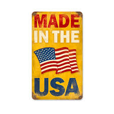 United States Flag Store Coupon Code Made In The Usa Weathered Metal Sign Vintage Patriotic Signs