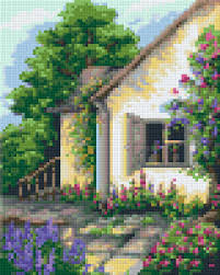 window 4 baseplate pixelhobby mini mosaic art kit