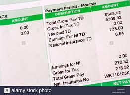 Td Bank Teller Salary Pay Slip Stock Photos U0026 Pay Slip Stock Images Alamy