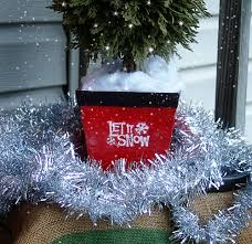 holiday centerpiece topiary from thrift store finds getting