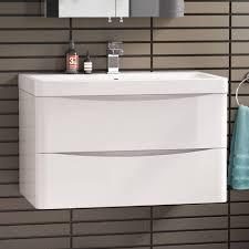 Bathroom Vanity 900mm by 800 X 510mm Modern White Bathroom Vanity Unit U0026 Stone Countertop
