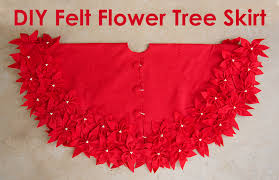 felt flower tree skirt and sugar bee crafts