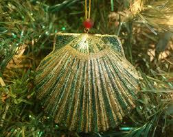 nautical ornaments scallop shell ornament ornament