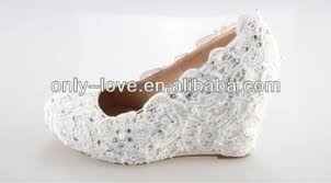 wedding shoes low wedges bs669 custom make ivory wedge heel lace bridal wedding shoes buy