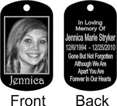 in loving memory dog tags 6 x 6 word memorials