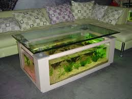design of a half circle shape table aquarium fish tank corner