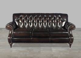 Leather Sofa Fabric Cushions by Brown Top Grain Button Tufted Leather Sofa