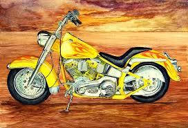 1967 harley davidson custom motorcycle painting by terence john cleary