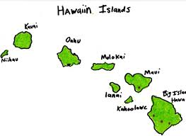 Map Of Hawaii Islands The Great State Of Hawaii