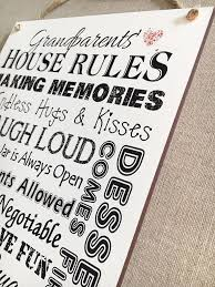 grandparent plaques house sign nana grandad wooden plaque gift w131
