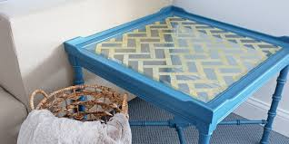 gold and glass table remodelaholic diy gold leaf glass table top