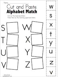 alphabet match s to z free worksheet kindergarten language