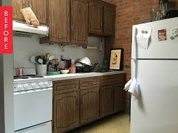 Where Can I Get Cheap Kitchen Cabinets Tara U0027s Budget Rental Remodel 300 Later This Rental Kitchen Is