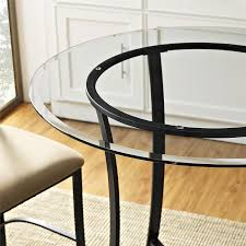 Glass Tables And Chairs Amazon Com Dorel Living Valerie 3 Piece Counter Height Glass And