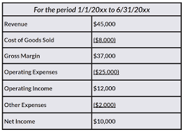 Monthly Income Statement Template by Flying Blind Understand What Your Financials Can Tell You