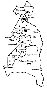prince georges county map prince george s county howard county maryland legislative