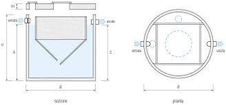 vasche imof vasca imhoff monolitica circolare da 4 a 50 a e mecv cementi