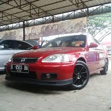 mobil honda civic modifikasi mobil honda civic memakai velg abt jd72 hsr r16