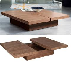 Wood Coffee Table With Storage Accessories Organizing Rustic Square Coffee Table Loccie Better