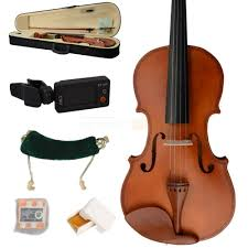 new 4 4 full size wood color violin everything you need for