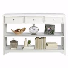Home Decoraters Home Decorators Collection Oxford White Storage Console Table