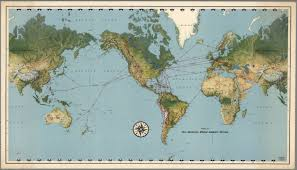 Map Routes by Routes Of Pan American World Airways System David Rumsey