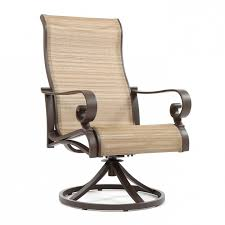 High Back Sling Patio Chairs by High Back Swivel Rocker Patio Chairs Woodard Fremont Sling