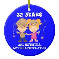 32nd wedding anniversary 32nd wedding anniversary gift for ceramic ornament