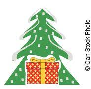 vector clipart of abstract christmas background with gift box