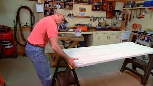 Solid Core Door Desk How To Paint Both Sides Of A Door On Sawhorses Today U0027s Homeowner