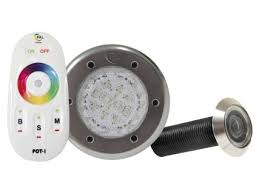 pal touch series led lights with remote pool lights