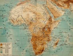 Africa Map Rivers 1900 Antique Map Of Africa Physical Map Rivers And