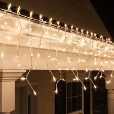 lighting led warm white icicle lights with orange icicle lights