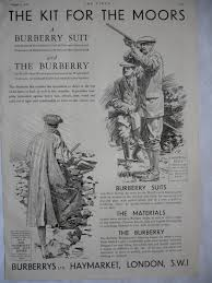Burberry Home Decor Burberry Suit Shooting Moors Fashion Advert 1933 Print
