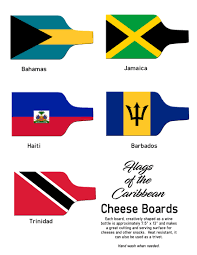 Flag Of Grenada Island Flag Cheese Boards U0026 Knife Chefs Of The Caribbean