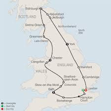 York England Map United Kingdom Holidays 8 Nights 9 Days Package England