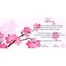 faire part mariage discount part mariage pas cher fleur de cerisier