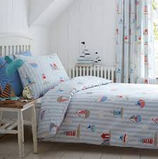 Childrens Cot Bed Duvet Sets Sail On By Boys Boats Cotton Duvet Set By Marquis Dawe