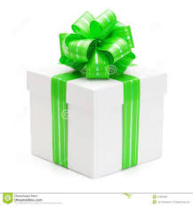 green gift bow gift box with green ribbon and bow stock photo image of package
