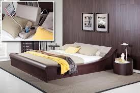 Grey Bedroom Geneva Contemporary Brown Oak U0026 Grey Bedroom Set