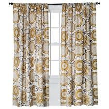 Threshold Medallion Shower Curtain by Threshold Window Panel Farrah Medallion Khaki 54x84 1 Panel